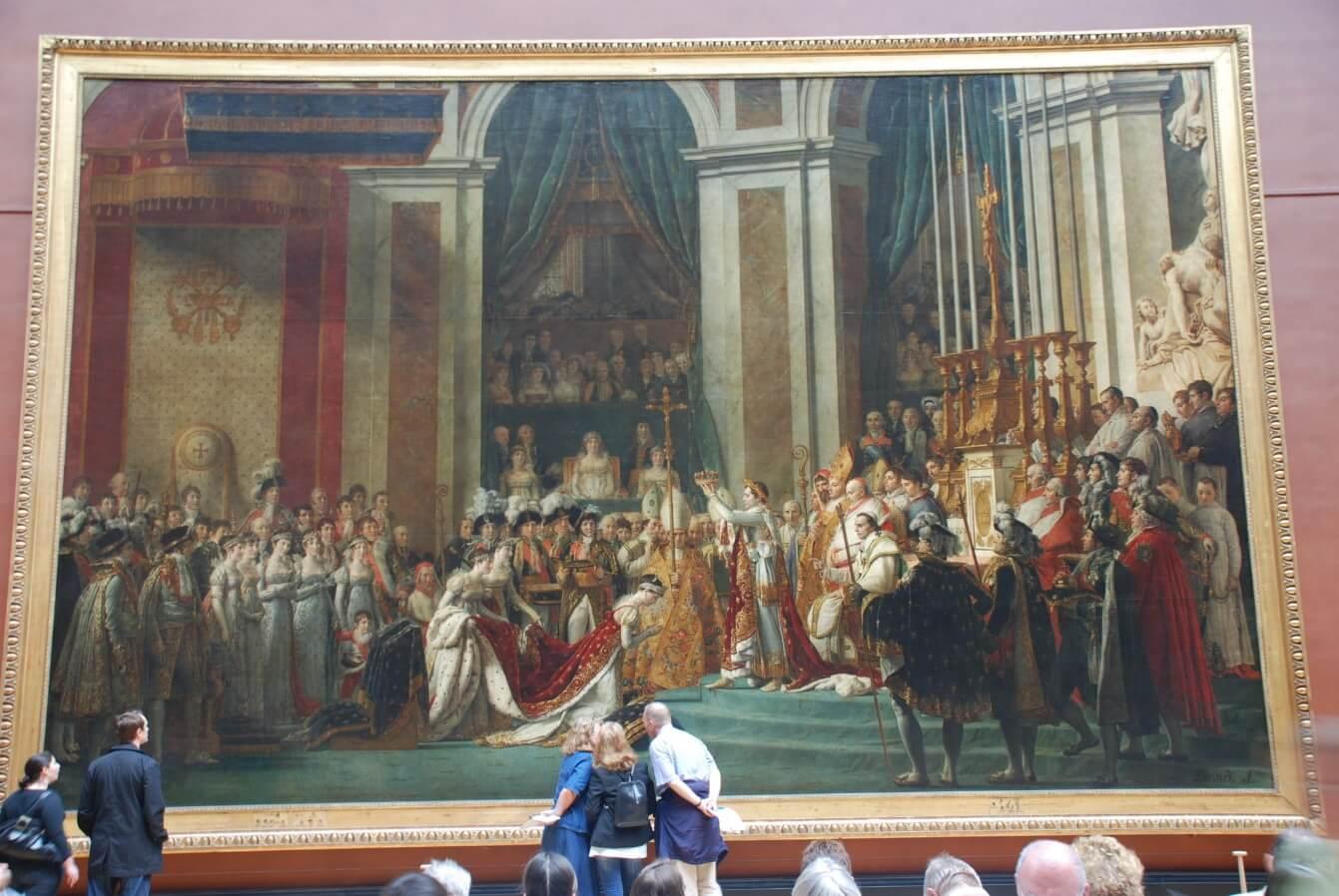 تابلوی نقاشی تاج گذاری امپراتور ناپلئون در کلیسای نوتردام در دسامبر 1804