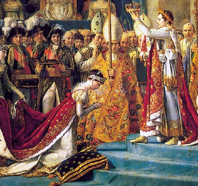 امپراتور ناپلئون در حال تاجگذاری ملکه ژوزفین