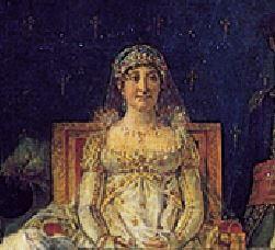 مادر ناپلئون که علی رغم حضورش در تابلوی تاجگذاری ناپلئون به تصویر کشیده شده است