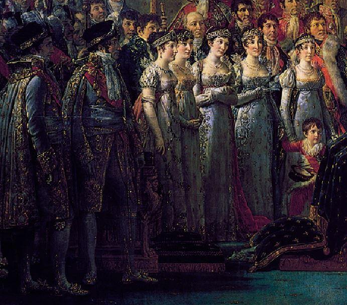 خواهران و برادران امپراتور در مراسم تاجگذاری ناپلئون