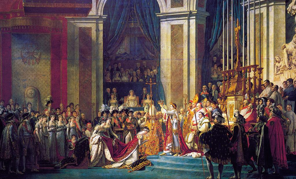 تابلوی نقاشی تاجگذاری ناپلئون در موزه لوور