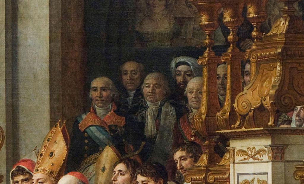 سفرای خارجی در تابلوی نقاشی تاجگذاری ناپلئون