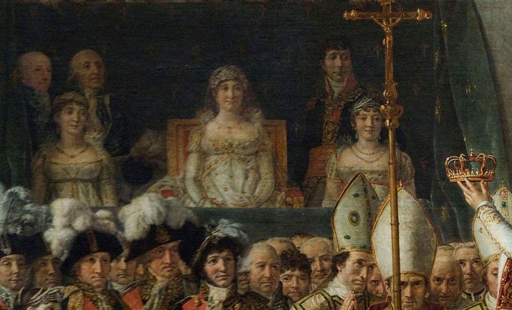 مادر امپراتور ناپلئون در تابلوی نقاشی تاجگذاری ناپلئون