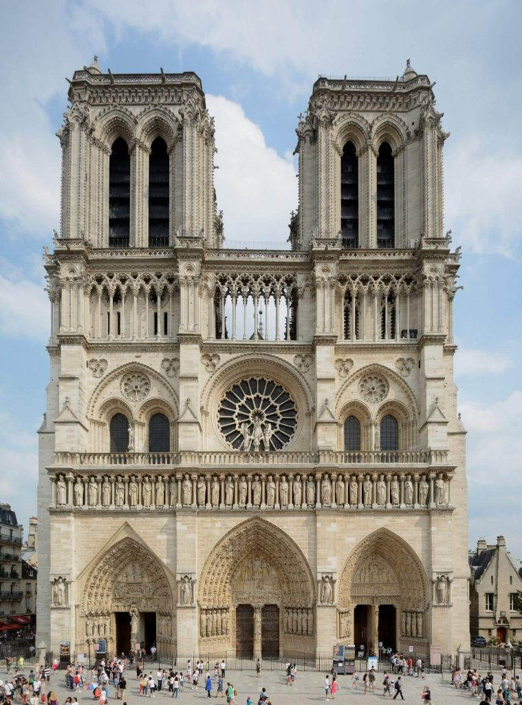 نمای غربی کلیسای نوتردام پاریس