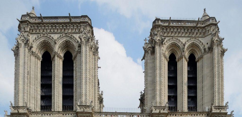 برج ناقوس و گالری شیمرها، نمای غربی کلیسای نوتردام پاریس