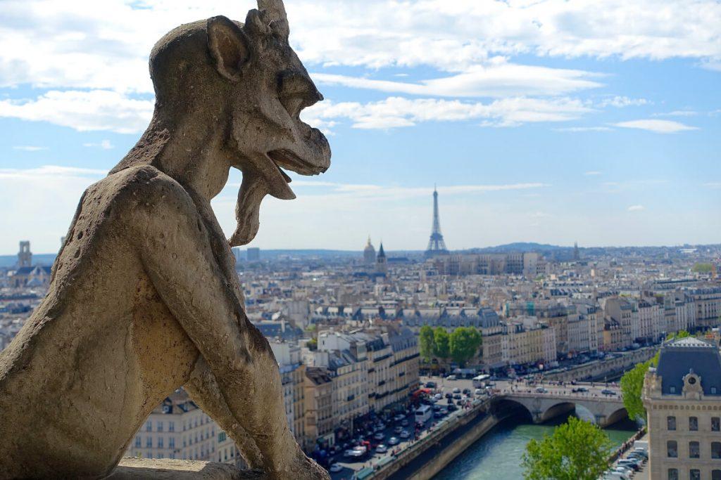 ویوی زیبای شهر پاریس از بالای گالری شیمرها