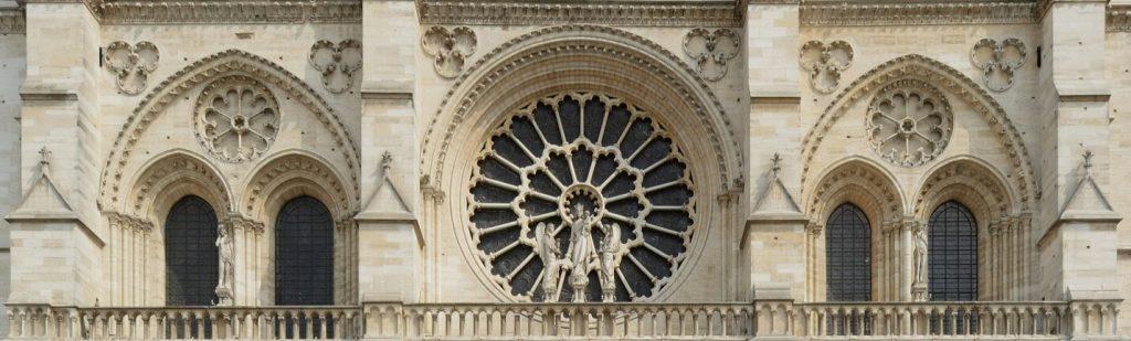 مجسمه حضرت آدم و حوا، نمای غربی کلیسای نوتردام پاریس
