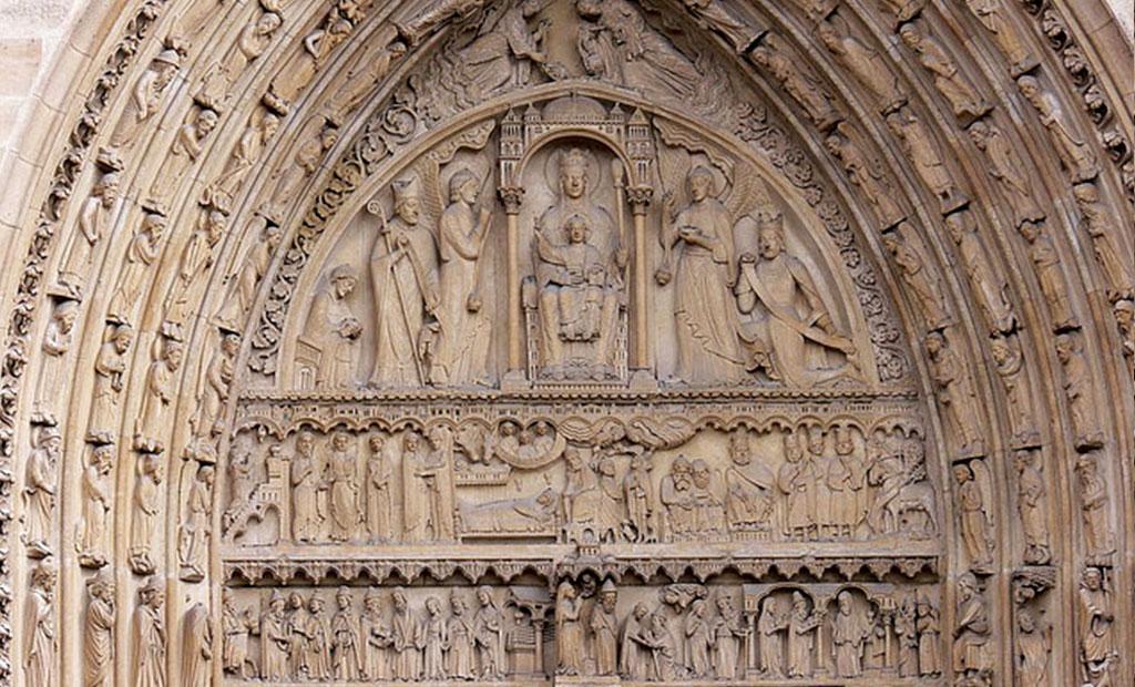 نقش برجسته حنه قدیس کلیسای نوتردام