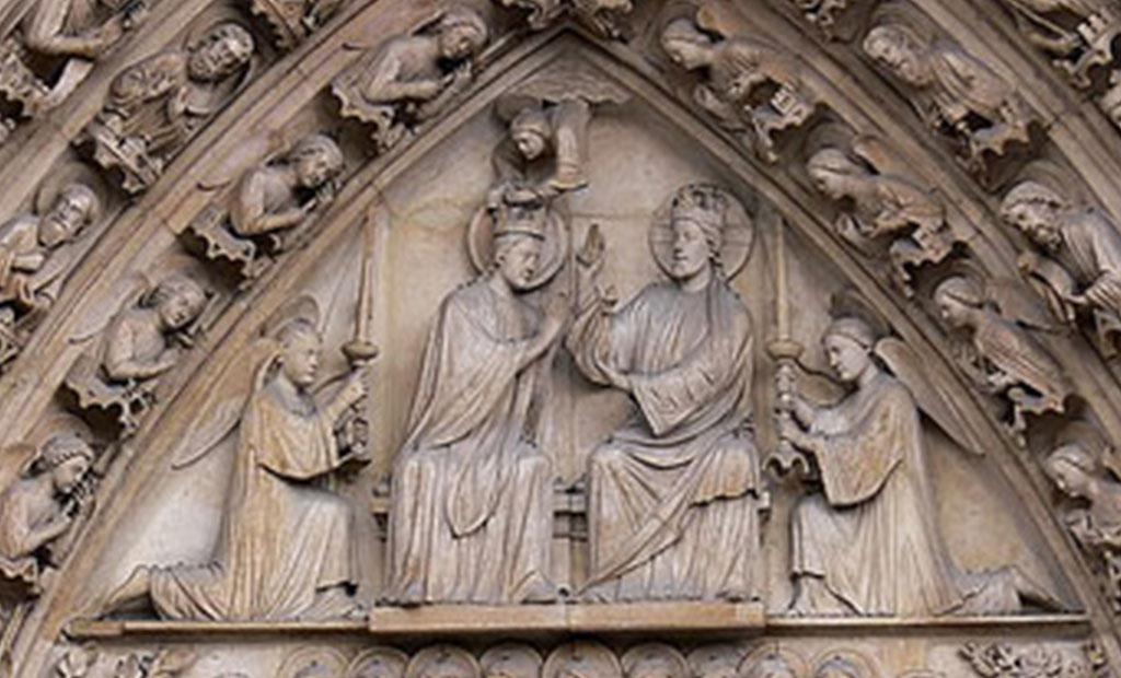 نقش برجسته مریم باکره کلیسای نوتردام