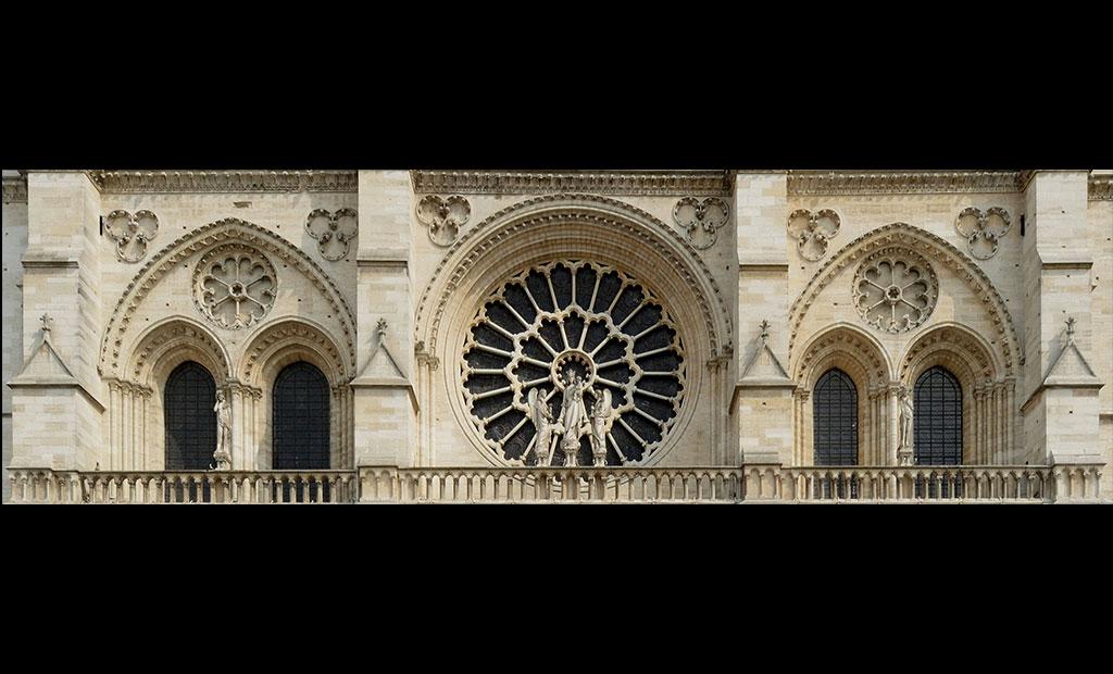 پنجره گلسرخی غربی کلیسای نوتردام پاریس