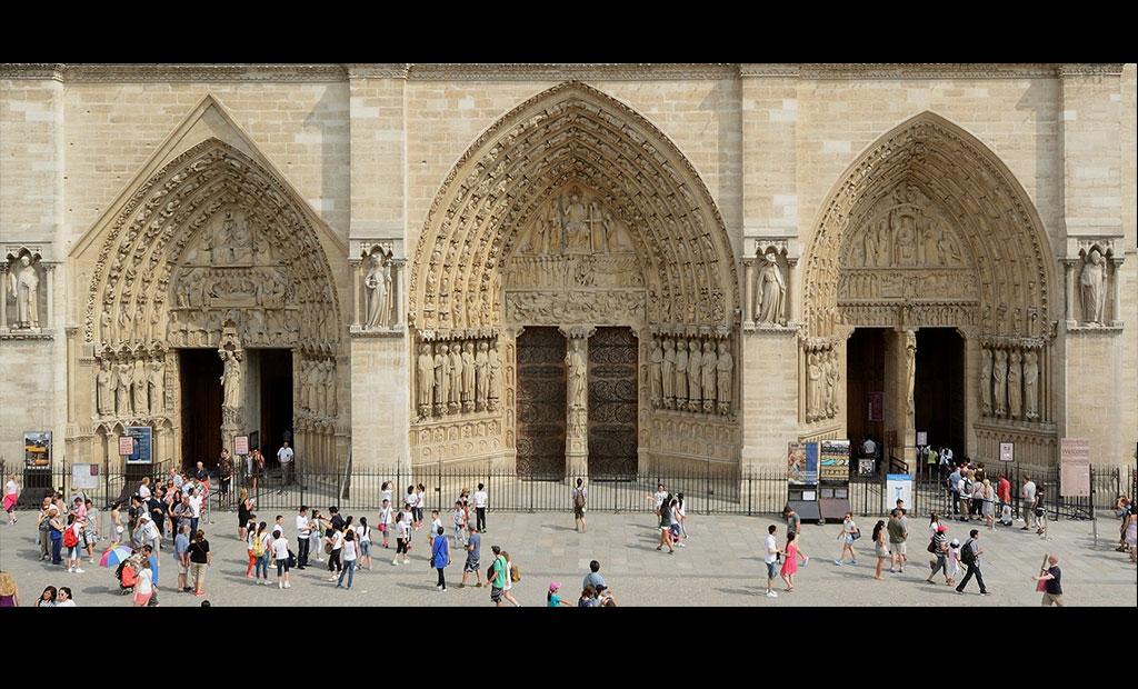 دروازه های ورودی کلیسای نوتردام پاریس