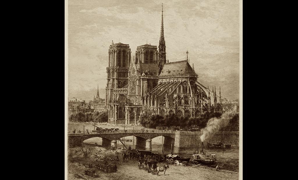 عکس قدیمی از کلیسای جامع نوتردام پاریس