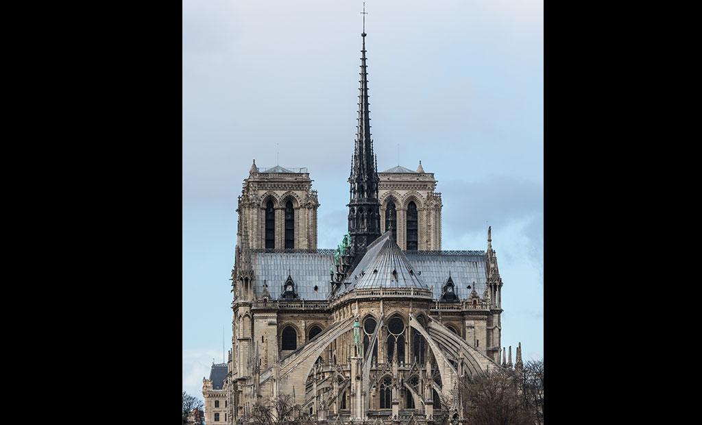 نمای شرقی کلیسای جامع نوتردام پاریس