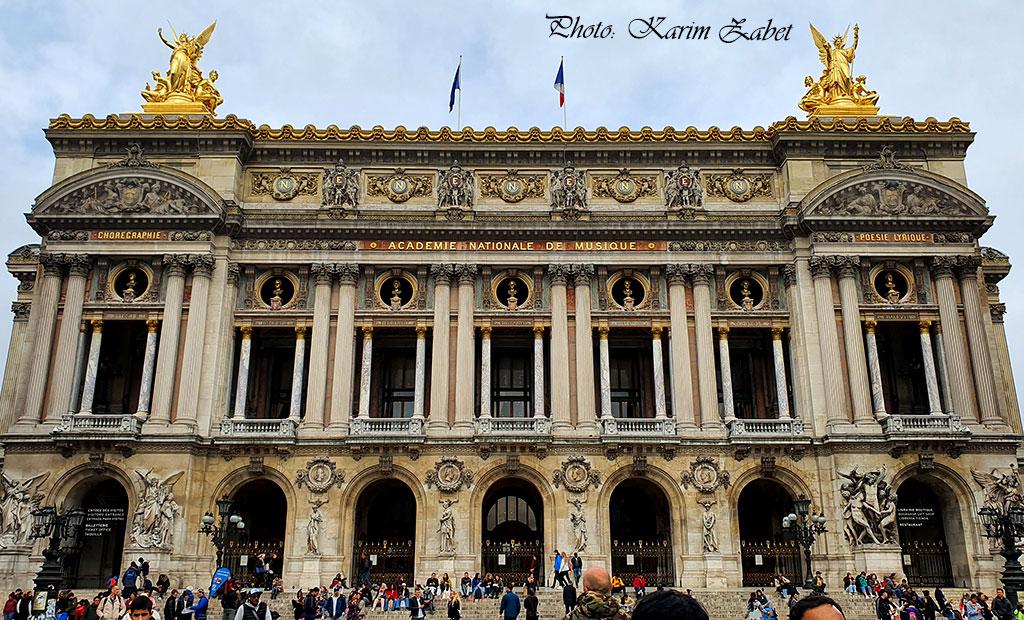 نمای اصلی ساختمان اپرا گارنیه پاریس