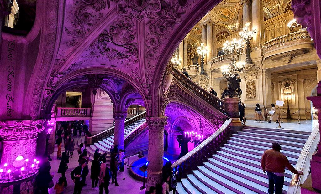 راه پله های ورودی اپرا گارنیه پاریس
