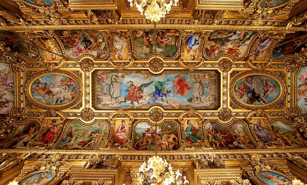 نقاشی های سقفی سالن اجتماعات اپرا گارنیه