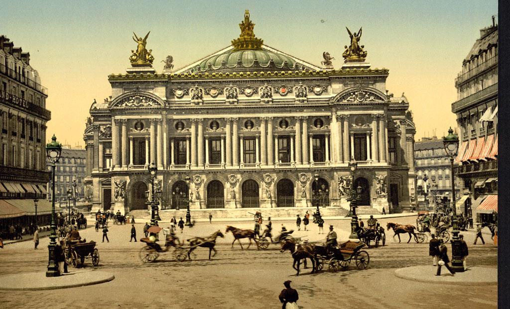 نقاشی قدیمی از اپرا گارنیه پاریس