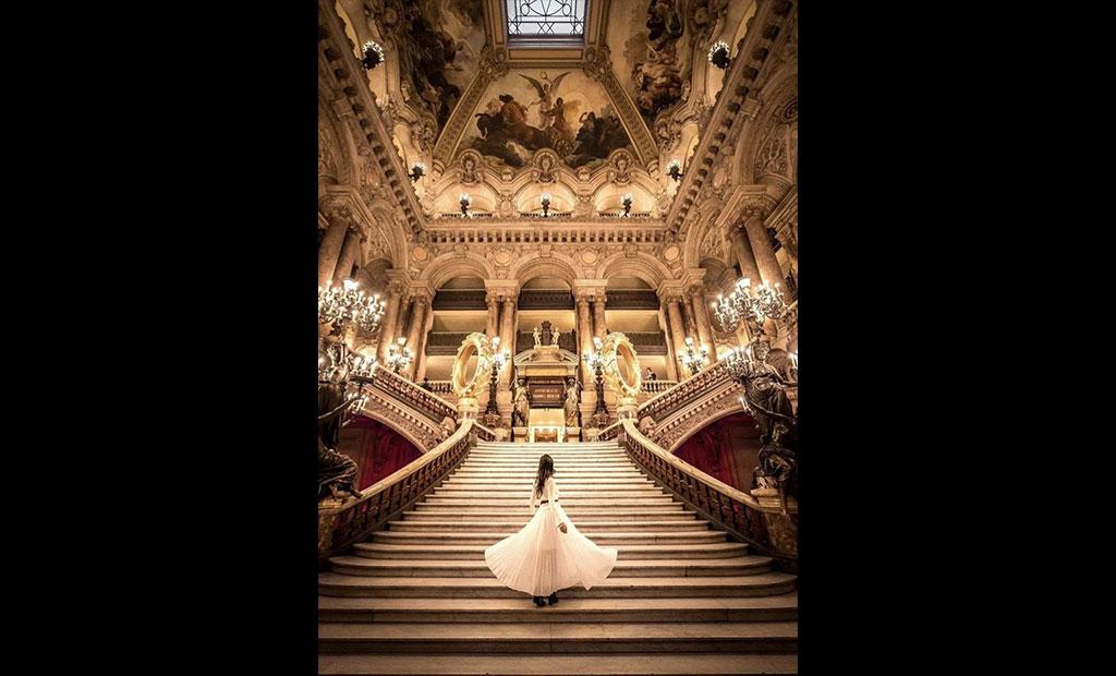راه پله های اصلی اپرا گارنیه پاریس
