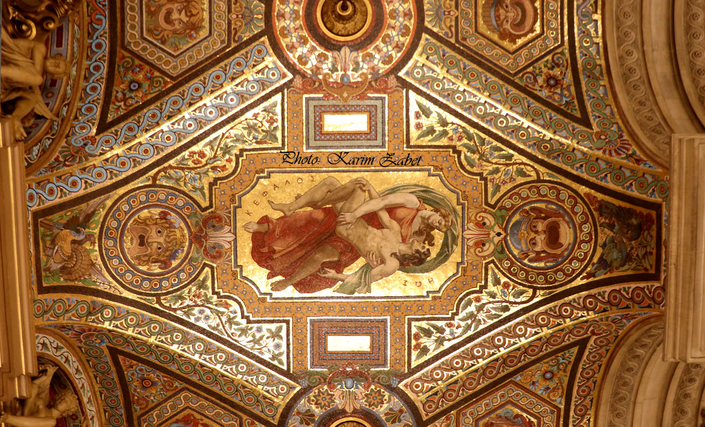 موزاییک کاری های سقفی در اپرا گارنیه
