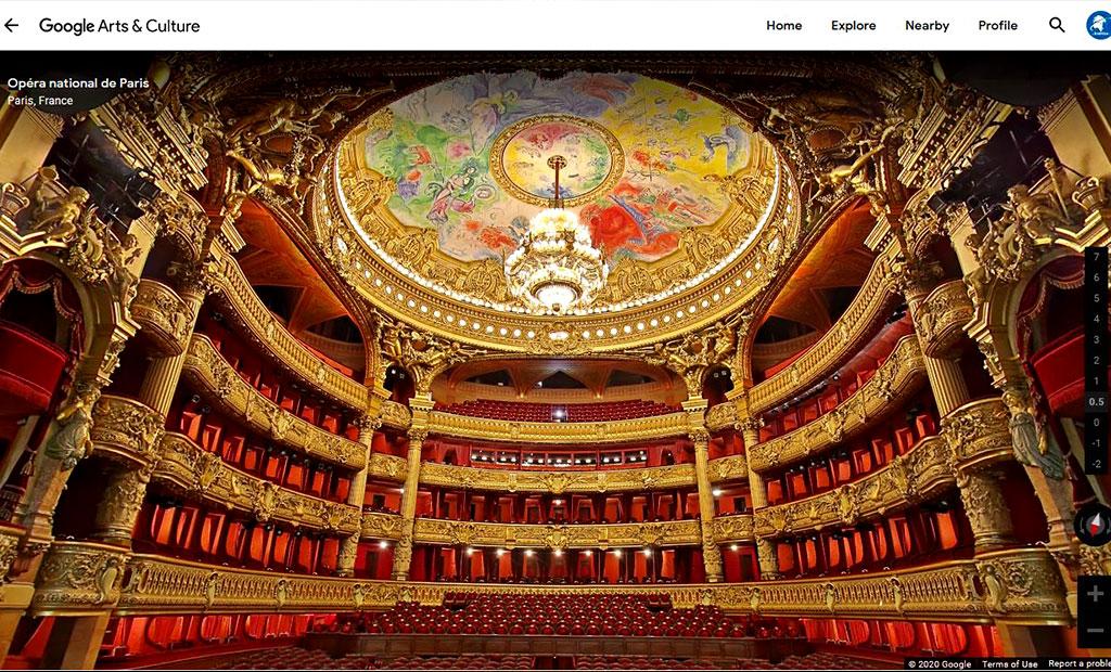 بازدید مجازی از اپرا گارنیه پاریس توسط تکنولوژی گوگل استریت