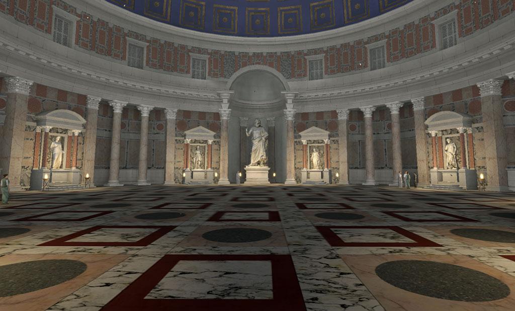 عکس شبیه سازی شده از معبد پانتئون رم در زمان باستان