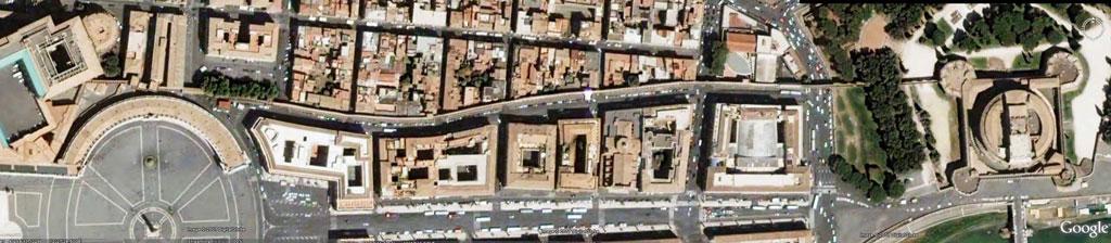 مسیر اختصاصی بین قلعه سنت آنجلو و محل کار پاپ در واتیکان