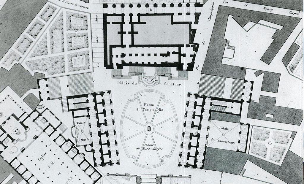 نقشه میدان کاپیتولین شهر رم
