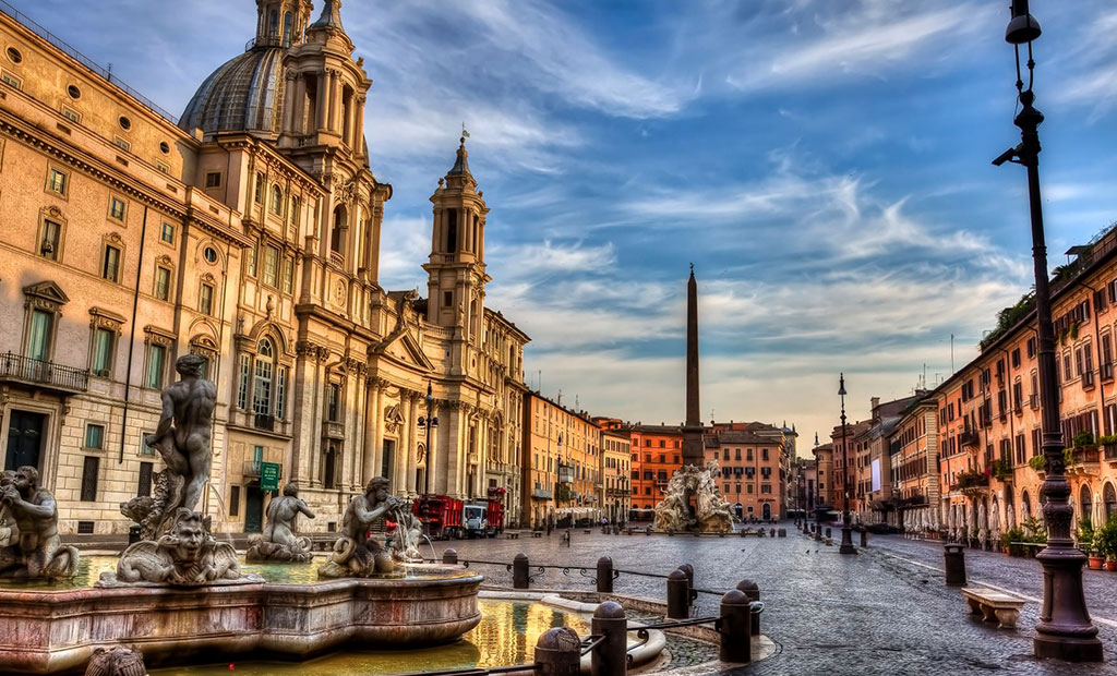 نمایی زیبا از میدان ناوونا شهر رم