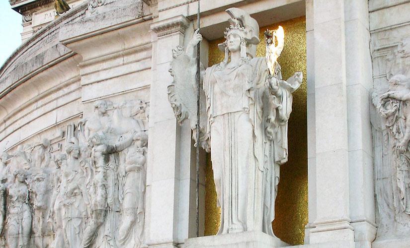مجسمه روما الهه محافظ شهر رم