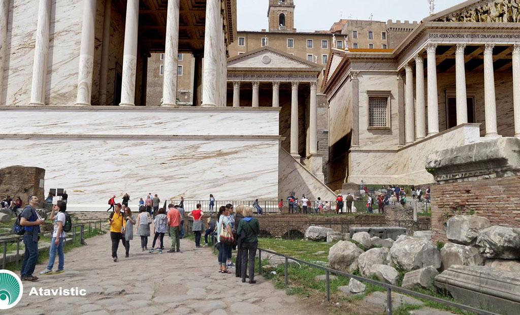 نمای بازسازی شده رومان فروم