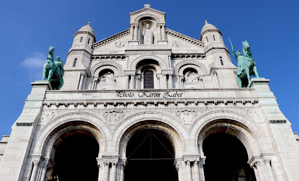 نمای اصلی کلیسای سکره کور پاریس