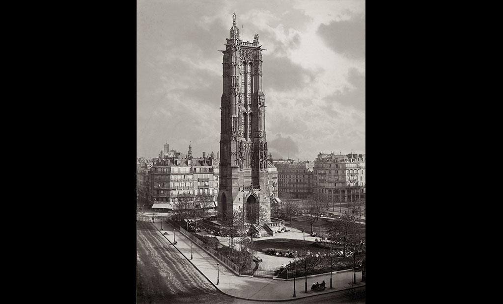 عکس قدیمی از برج سن ژاک پاریس