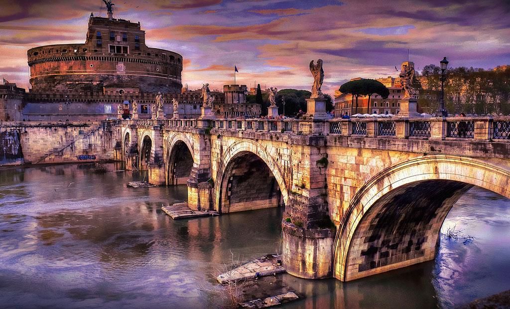 پل و قلعه سنت آنجلو شهر رم