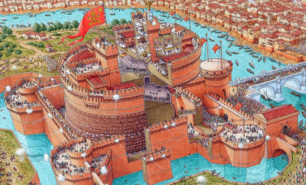 تصویر فرضی از قلعه سنت آنجلو در زمانی که دژ دفاعی بوده است