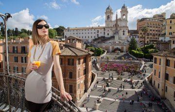 پله های اسپانیایی مکان محبوب ملاقات رمی ها