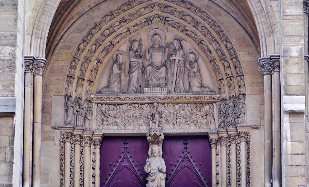 درب ورودی نمازخانه سلطنتی کلیسای سن شاپل