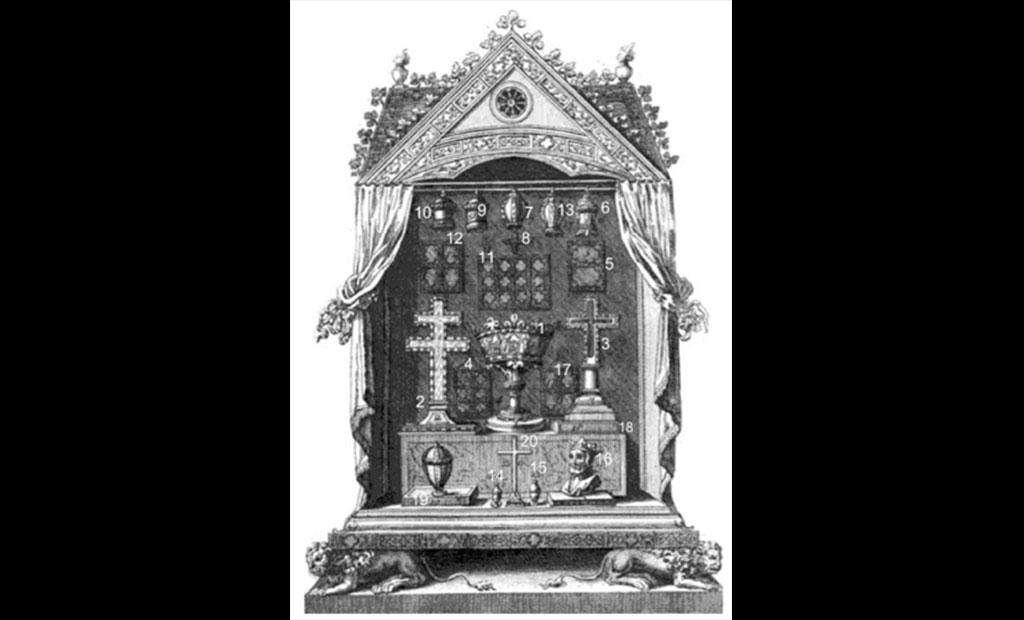 محفظه مخصوص نگهداری بقایای مقدس در سن شاپل