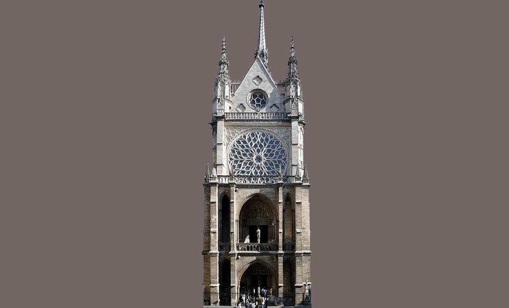 نمای غربی (اصلی) کلیسای سن شاپل