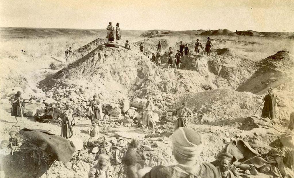 عکس قدیمی از تپه های باستانی شوش