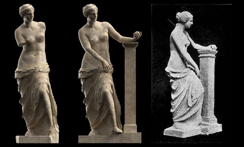 تصویر احتمالی از شکل اصلی مجسمه ونوس