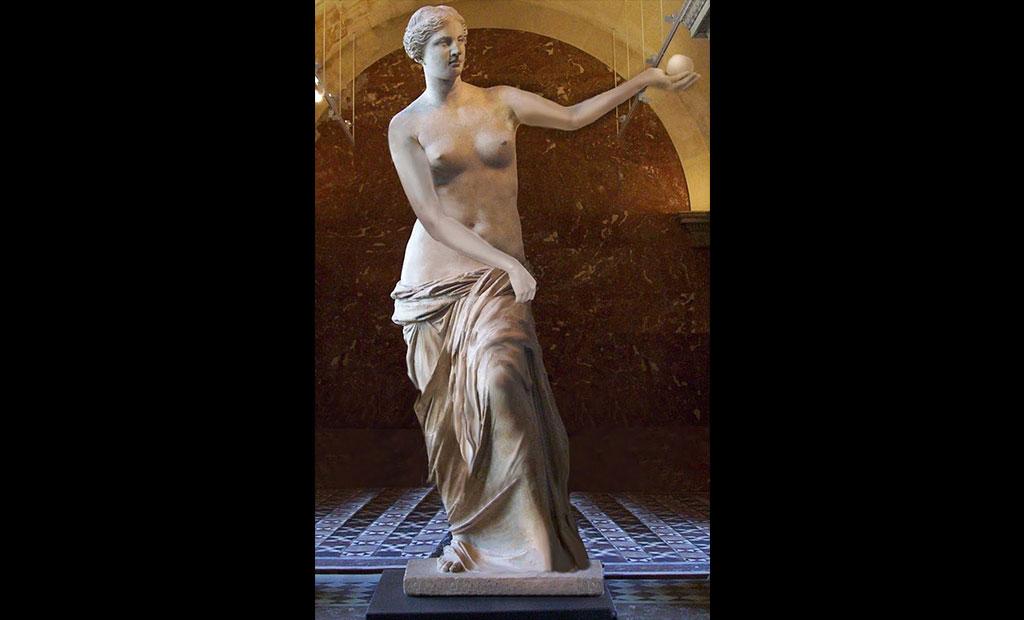 تصویر احتمالی از شکل قرار گیری بازوان مجسمه ونوس