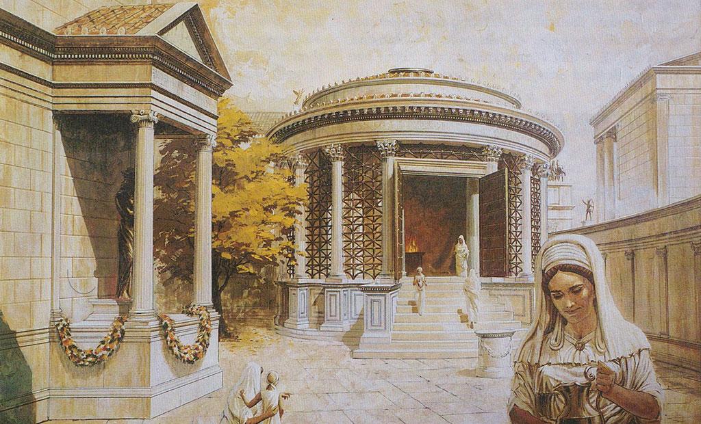 معبد وستا و باکره های وستا در دوران باستان