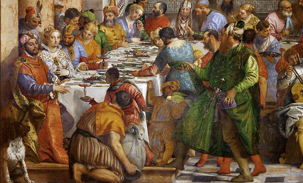 عروس و داماد و مهمان هایشان