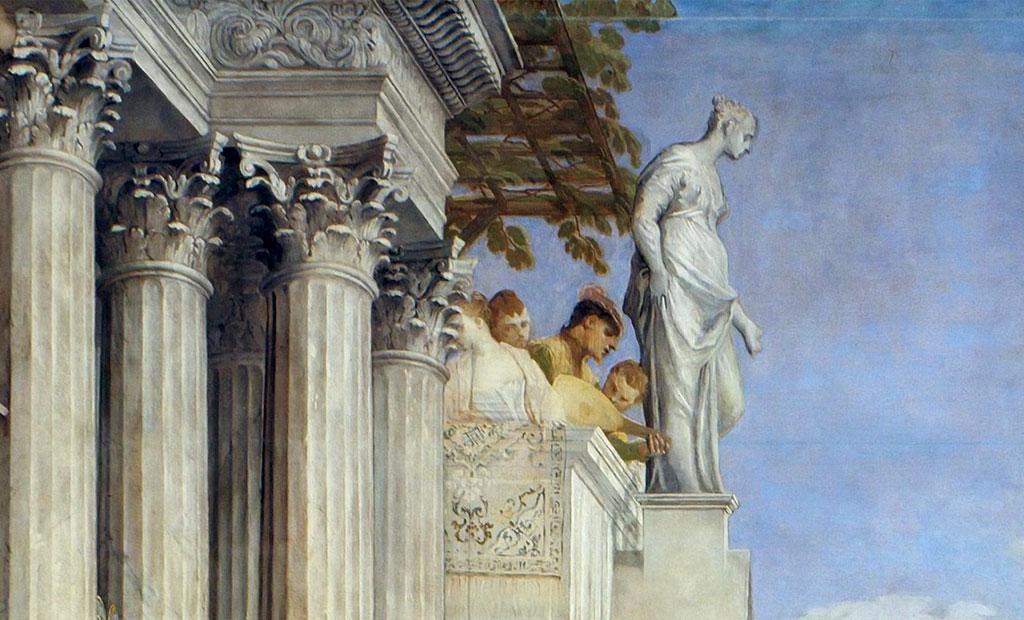 لردهای ونیزی در حال تماشای مراسم عروسی