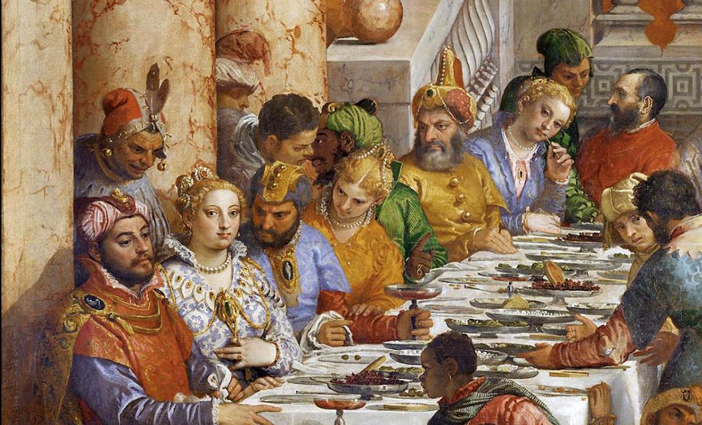 عروس و داماد و مهمانان اشرافی شان